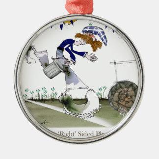 scottish right wing footballer metal ornament