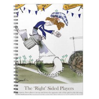 scottish right wing footballer notebooks