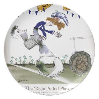 scottish right wing footballer plate