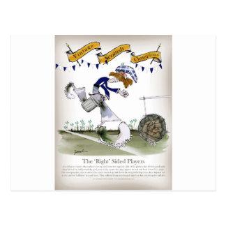scottish right wing footballer postcard