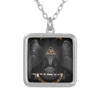 Scottish Rite 32 Degree Mason Eagle Silver Plated Necklace