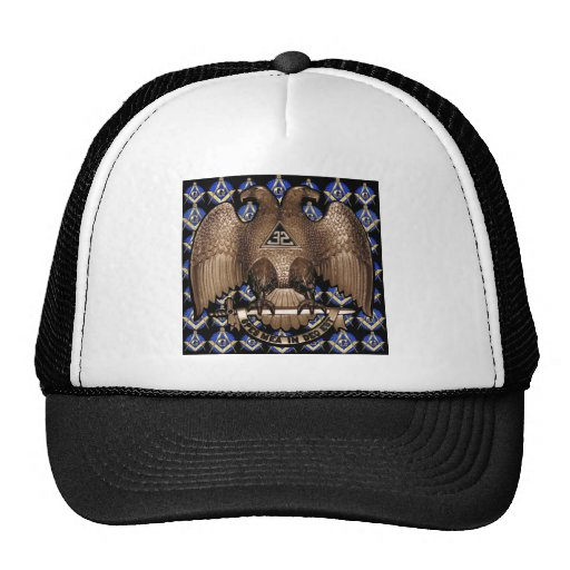 Scottish Rite Square & Compass Black Mesh Hat
