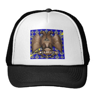 Scottish Rite Square & Compass Blue & Yellow Trucker Hat