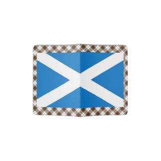 Scottish Saltire Flag Tartan Passport Holder