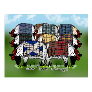 Scottish Sheep Postcard - See Ewe Jimmy