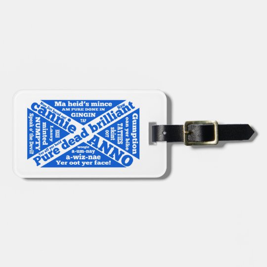 Scottish slang and phrases luggage tag