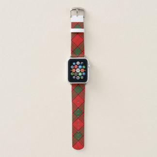 Scottish Style Clan Maxwell Tartan Plaid Apple Watch Band