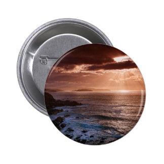 Scottish Sunset, North Coast of Scotland 2 Inch Round Button