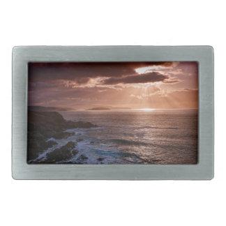 Scottish Sunset, North Coast of Scotland Belt Buckles