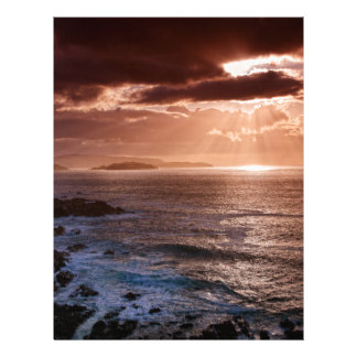 Scottish Sunset, North Coast of Scotland Customized Letterhead