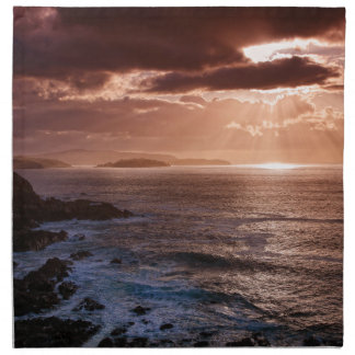 Scottish Sunset, North Coast of Scotland Napkin