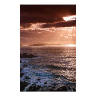 Scottish Sunset, North Coast of Scotland Personalized Stationery