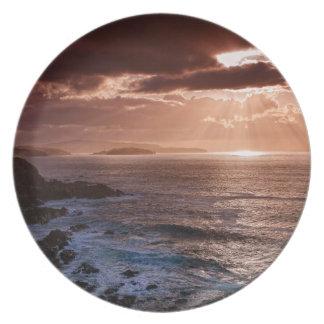 Scottish Sunset, North Coast of Scotland Plate