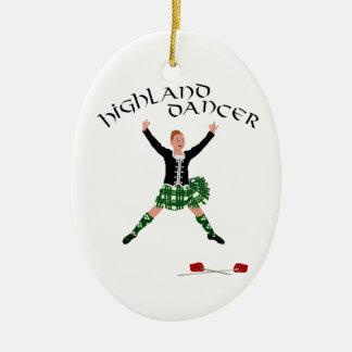 Scottish Sword Dancer - Ghillie Callum Ceramic Oval Ornament