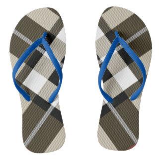 Scottish Tartan Adult, Slim Straps Flip-flops Flip Flops
