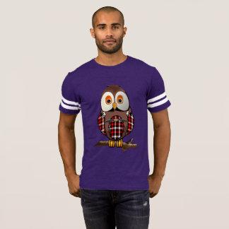 Scottish Tartan Barn Owl Men's Football T-Shirt
