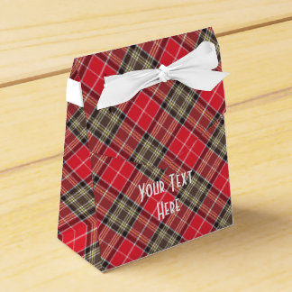 Scottish Tartan Clan Paid Pattern Personalized Favor Box