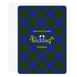 Scottish Tartan Clan Plaid Editable Wedding Card