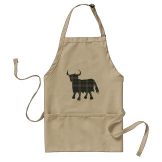 Scottish Tartan Cow Design Standard Apron