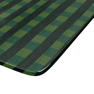 Scottish tartan, dark green chequered pattern boards