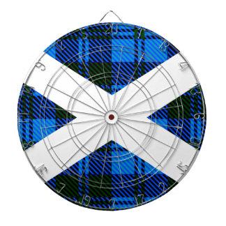 Scottish Tartan Flag Dartboard With Darts