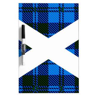 Scottish Tartan Flag Dry-Erase Whiteboard
