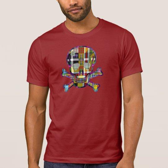 Scottish Tartan Mad Skull T-Shirt