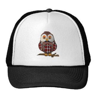 Scottish Tartan Owl Trucker Hat