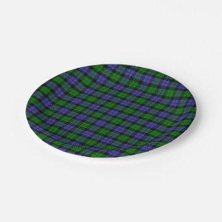Scottish tartan paper plate