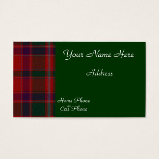 Scottish Tartan Plaid Business Card