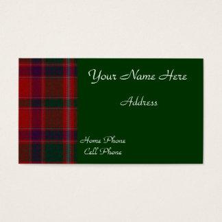 Scottish Tartan Plaid Business Card