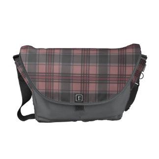 Scottish tartan plaid crimson courier bags