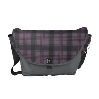 Scottish tartan plaid deep purple courier bags