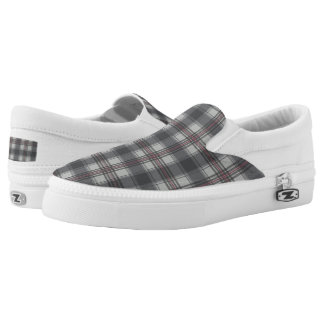 Scottish tartan plaid grey Slip-On sneakers