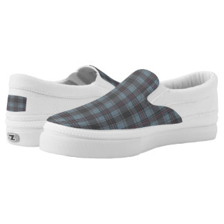 Scottish tartan plaid moss green plaid Slip-On sneakers
