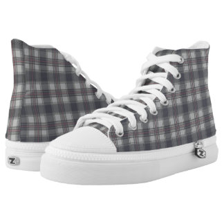 Scottish Tartan plaids grey High Tops