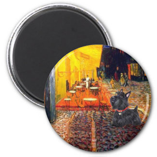 Scottish Terrier 6 - Terrace Cafe 2 Inch Round Magnet