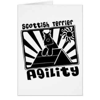 Scottish Terrier Agility A-Frame Card