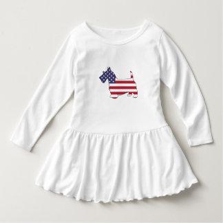 """Scottish terrier - """"american flag"""" dress"""