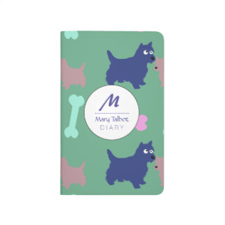 Scottish Terrier and Puppy Monogram Journal