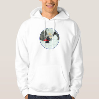Scottish Terrier and Snowman Hoodie