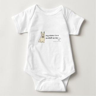 scottish terrier baby bodysuit