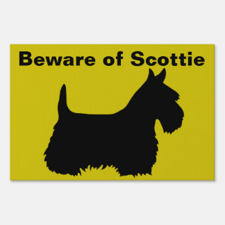 Scottish Terrier,  Beware of Scottie/dog Sign