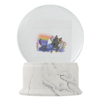 scottish terrier black boy snow globe