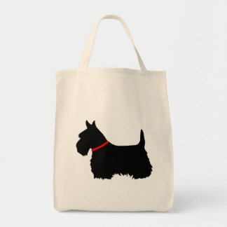 Scottish Terrier black, cletic braid, red colar Tote Bag