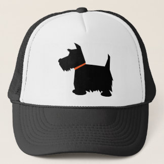 Scottish Terrier black silhouette cap, hat