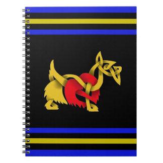 Scottish Terrier black silhouette celtic heart Notebooks