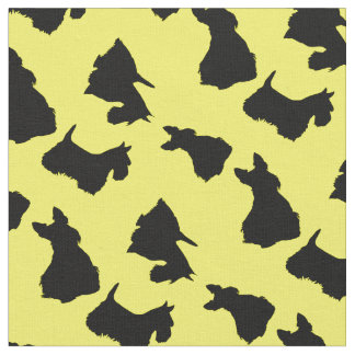 Scottish Terrier black silhouette, Fabric