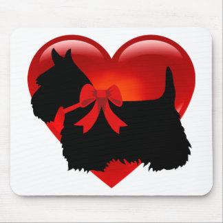 Scottish Terrier black silhouette Scotland dog Mouse Pad