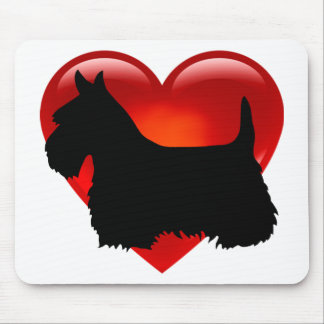 Scottish Terrier black silhouette Scotland dog Mouse Pad